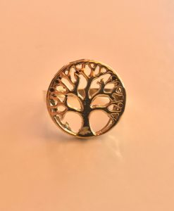 Tree Of Life Adjustable Brass Ring